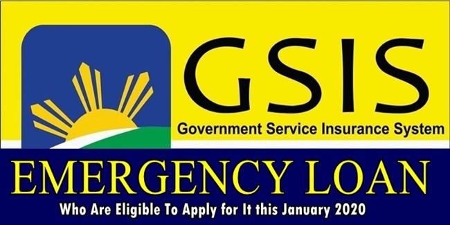 GSIS emergency loan 2020